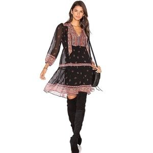 Joie Alpina Silk Dress Paisley